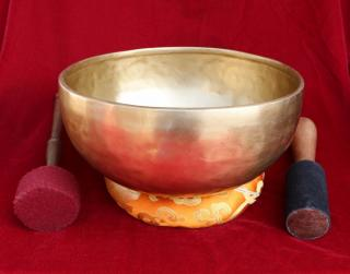 HANDMADE TIBETAN SINGING BOWL 10 INCH WITH FREE CUSHION AND MALLET